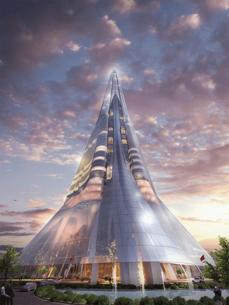 Hình ảnh tháp tài chính Phương Trạch 108 tầng